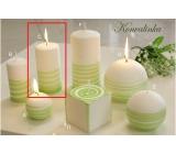 Lima Aromatická spirála Konvalinka svíčka bílo - zelená válec 60 x 120 mm 1 kus