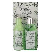 Bohemia Gifts & Cosmetics Konopný olej sprchový gel 200 ml + vlasový šampon 200 ml + dekorační obraz Přátelství 13 x 24 cm, kosmetická sada