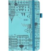 Albi Diář 2020 kapesní s gumičkou Města 15 x 9,5 x 1,3 cm