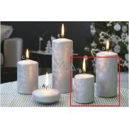 Lima Ledová svíčka stříbrná válec 50 x 70 mm 2 kusy