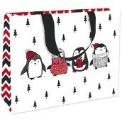 Nekupto Dárková papírová taška s ražbou střední 23 x 18 cm Vánoční 1780 WLFM