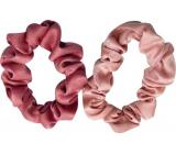 Gumičky do vlasů sametové růžové 2 kusy