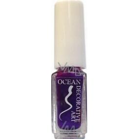 Ocean Decorative Art zdobící lak na nehty odstín 45 tmavě fialový 5 ml