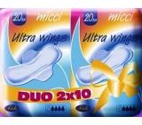 Micci Normal Ultra Wings intimní vložky s křidélky Duo 2 x 10 kusů