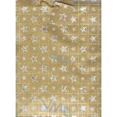 Nekupto Dárková papírová taška velká 32,5 x 26 x 13 cm Zlatá 1 ks 016 01 GL
