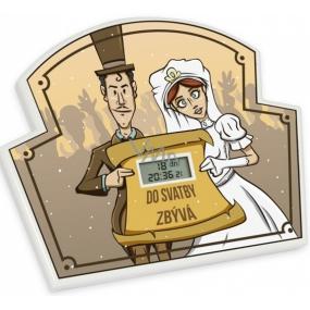 Albi Odpočítávač Do svatby, Nejdelší doba pro odpočet je 365 dní, 23h, 59 minut a 59 vteřin, 17x14x1,5 cm
