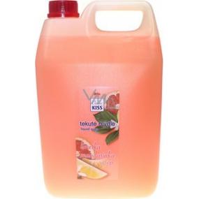 Mika Kiss Limetka + mandarinka + grep tekuté mýdlo náhradní náplň 5 l