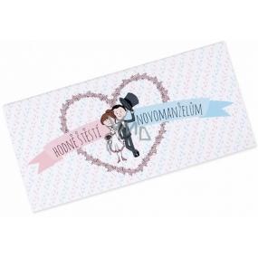 Albi Čokoláda s kapsou na peníze Svatební Hodně štěstí 15,4 cm × 7,3 cm × 1 cm 85 g