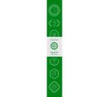 Vonné tyčinky Čtvrtá čakra Zelená 14 kusů