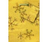 Nekupto Dárková papírová taška malá 14 x 11 x 6,5 cm vánoční, zlatá hologram 045 01 GS