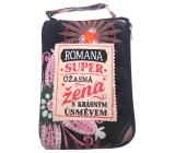 Albi Skládací taška na zip do kabelky se jménem Romana 42 x 41 x 11 cm