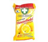 Green Shield Household Surface Wipes Citron 4v1 pro domácnost antibakteriální čisticí vlhčené ubrousky 70 kusů