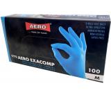 Aero Exacomp Rukavice hygienické jednorázové nitrilové antialergenní nepudrované, velikost M, box 100 kusů modré