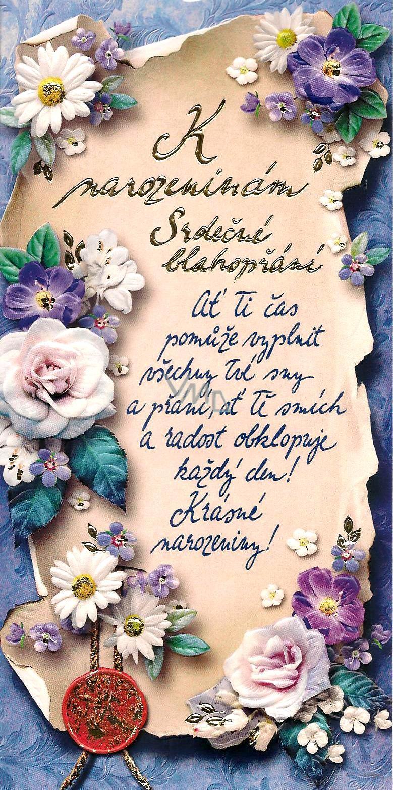 www blahopřání k narozeninám Nekupto Přání k narozeninám K narozeninám Srdečné blahopřání   VMD  www blahopřání k narozeninám