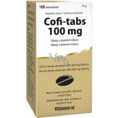 Vitabalans Coffi Tabs tablety s obsahem kofeinu pro nabuzení a stimulaci organismu 100 tablet