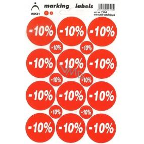 Arch Slevové etikety -10% 251-R